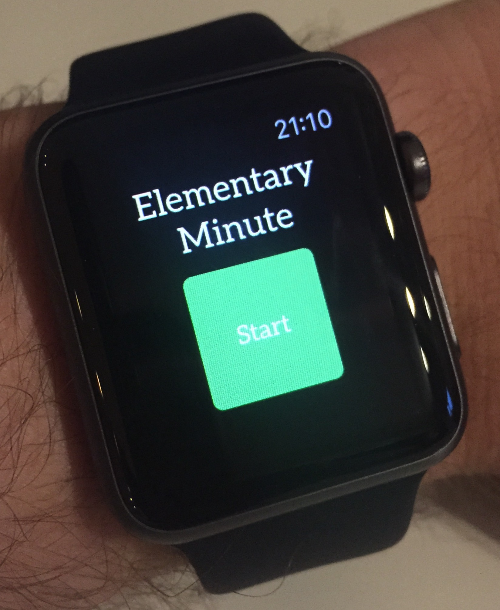Apple Watch Elementary Minute