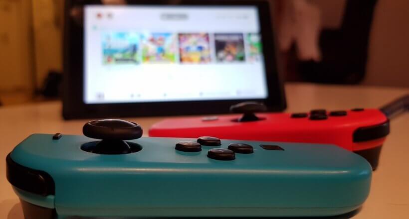 Galaxy Note 8 Foto von der Nintendo Switch