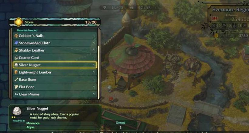 Ni No Kuni 2 Silbererz Silver nuggets Guide Help Tipps