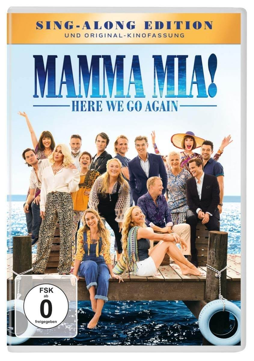 Mamma Mia! Here We Go Again DVD Blu-ray
