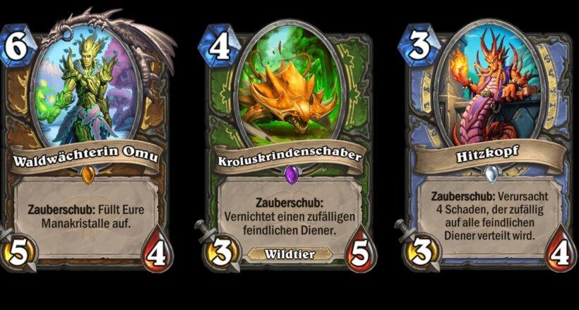 Hearthstone Zauberschub Karten